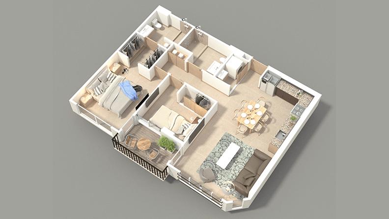 Apartamentos santa verde 2 habitaciones